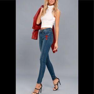 Levi's 721 High Rise Skinny Rose Jeans Sz 29